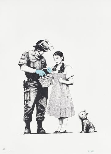 Stop And Search by Banksy at Fine Art Mia