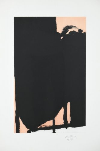 Elegy Fragment II by Robert Motherwell at F.L. Braswell Fine Art