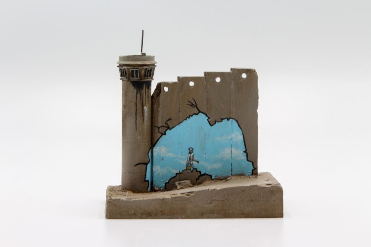 Walled Off Hotel – Wall Sculpture (Beach) by Banksy at Lougher Contemporary