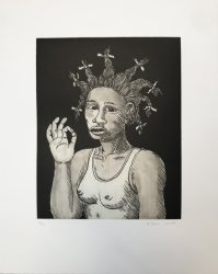Girl with a Pearly Earring by Alison Saar at Catharine Clark Gallery