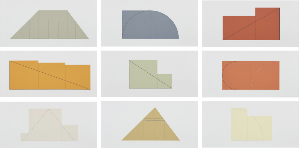 Multiple Panel Paintings, 1973-1976 by Robert Mangold at