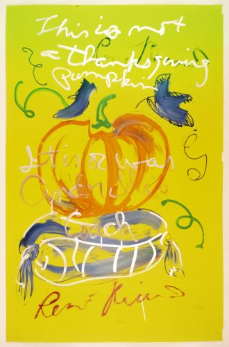 This is not a Thanksgiving pumpkin…It is or was Cinderella's coach by Rene Ricard at Rene Ricard