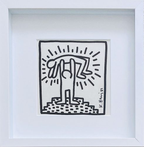 Untitled Catalog illustration from the Tony Shafrazi exhibition catalog, 2nd printing by Keith Haring at