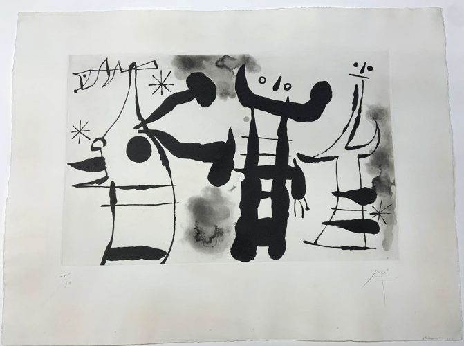 Les Philosophes I by Joan Miro at