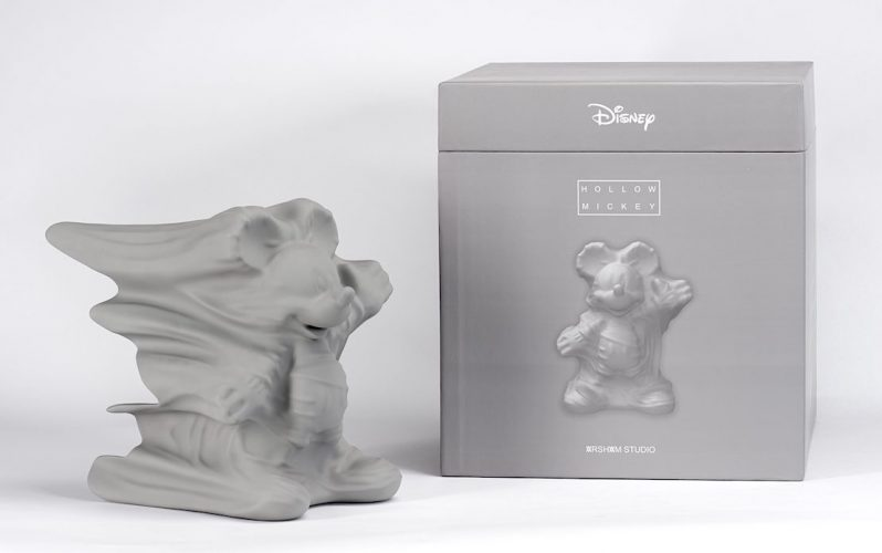 Hollow Mickey (Grey) by Daniel Arsham