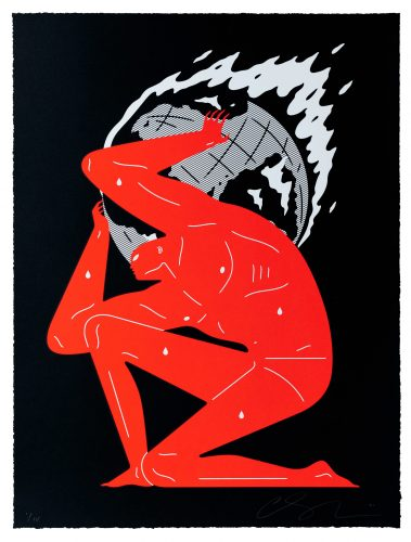 World on Fire (Black) by Cleon Peterson at Dellasposa Gallery