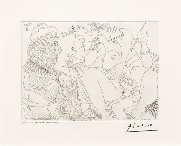 Raphael et la Fornarina XVI…, from the 347 Series by Pablo Picasso at Leslie Sacks Gallery (IFPDA)