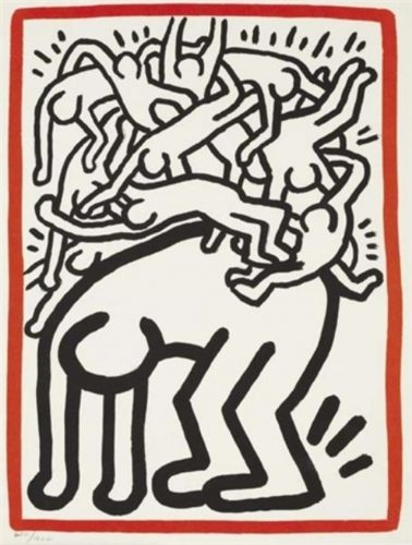 Fight AIDS Worldwide by Keith Haring at Art Commerce LLC