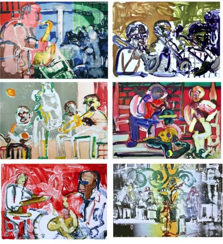 Jazz Series (Suite of Six Artworks) by Romare Bearden at
