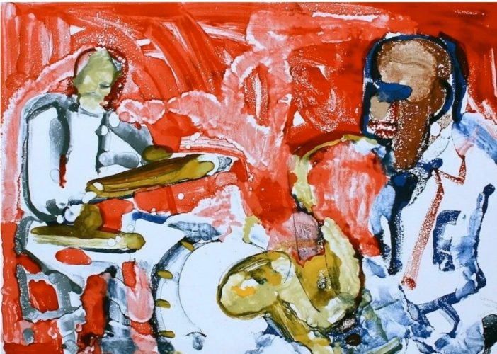 Out Chorus (Rhythum Section) by Romare Bearden at