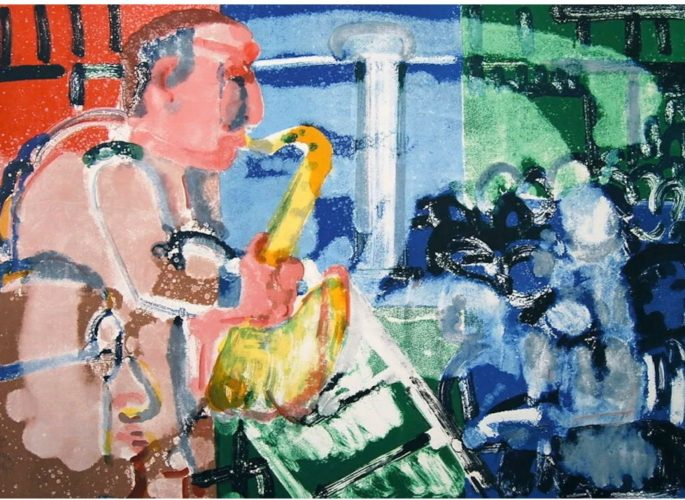 Bopping at the Birdland by Romare Bearden at