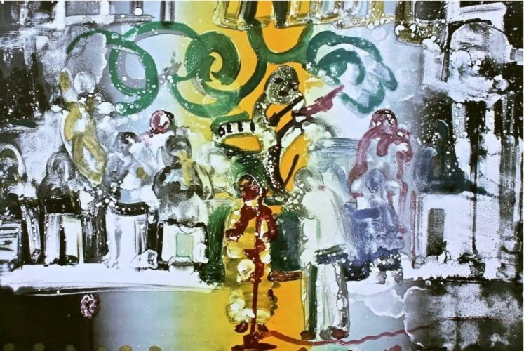 Introduction for a Blues Queen by Romare Bearden at