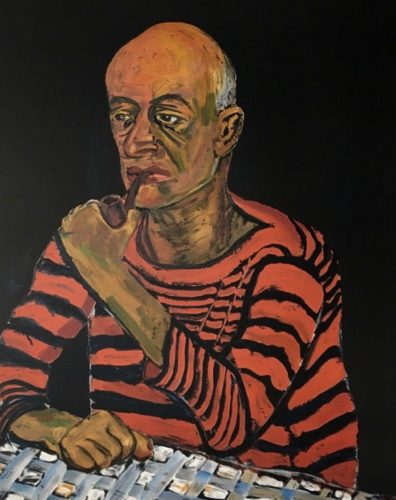 Man with Pipe (John Rothschild) by Alice Neel at