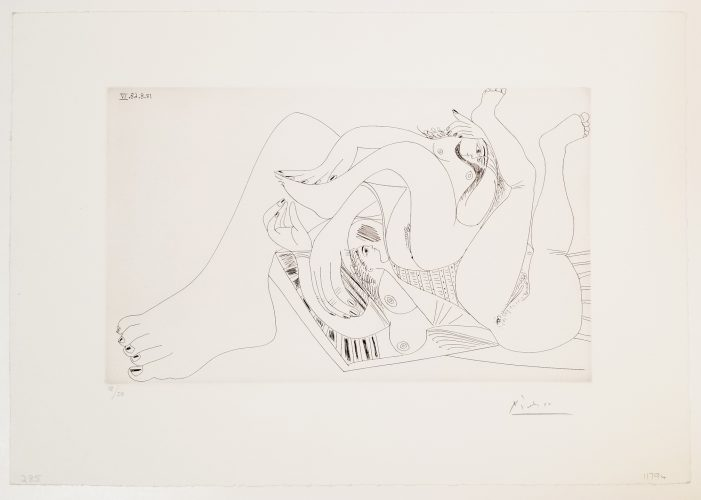 Deux Femmes Batifolant sur un Matelas de Plage, from 347 Series by Pablo Picasso at Leslie Sacks Gallery (IFPDA)