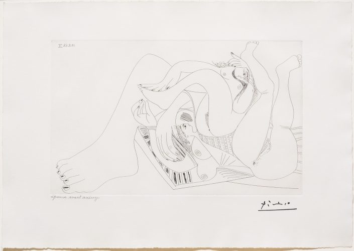 Deux Femmes Batifolant…, from the 347 Series by Pablo Picasso at Leslie Sacks Gallery (IFPDA)