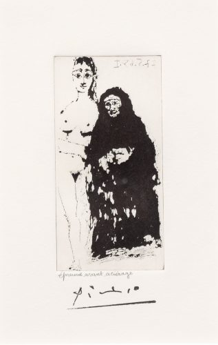 Maja et Celestine, from the 347 Series by Pablo Picasso at Leslie Sacks Gallery (IFPDA)