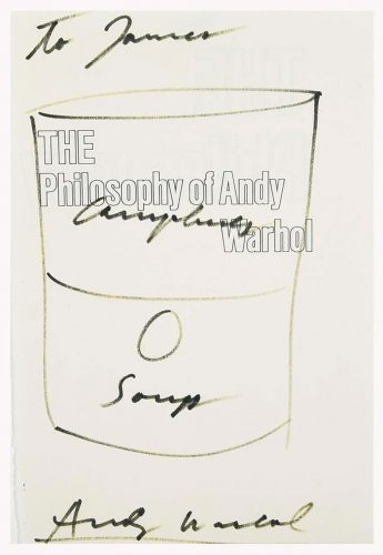 "Campbell's Soup Can Drawing on cover page of ""The Philosophy of Andy Warhol"" by Andy Warhol"