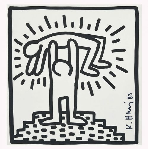Untitled Catalog illustration from the Tony Shafrazi exhibition catalog, 2nd printing by Keith Haring
