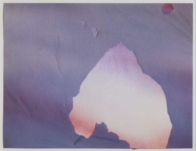 Torn Sky (742) by Joe Goode at Leslie Sacks Gallery (IFPDA)