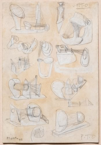 Ideas for Stringed Figures by Henry Moore at Leslie Sacks Gallery (IFPDA)