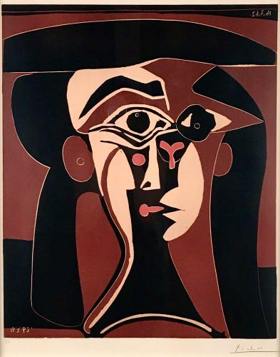 Tete de Femme by Pablo Picasso at Andrew Weiss Gallery