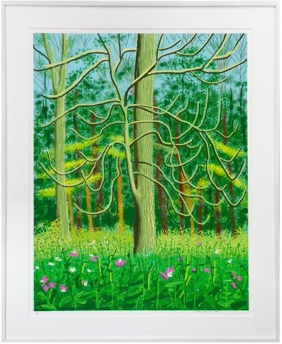 The Arrival of Spring in Woldgate, East Yorkshire in 2011 (twenty-eleven) – 4 May, 2011 by David Hockney