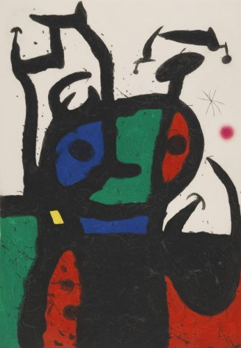 Le Matador by Joan Miro at Andrew Weiss Gallery