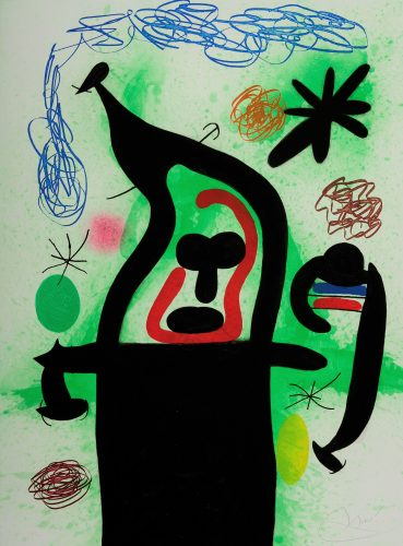 La Harpie by Joan Miro at Andrew Weiss Gallery