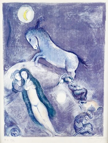Plate 11 from Four Tales of the Arabian Nights by Marc Chagall at Andrew Weiss Gallery