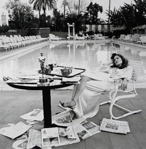Faye Dunaway, 1977 by Terry O'Neill at