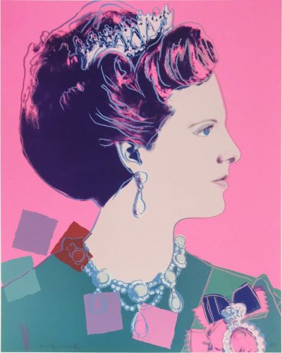 Reigning Queens (Royal Edition): Queen Margrethe II of Denmark IIA.345 by Andy Warhol at