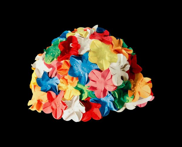 Multicolor Bathing Cap by Carole Feuerman at
