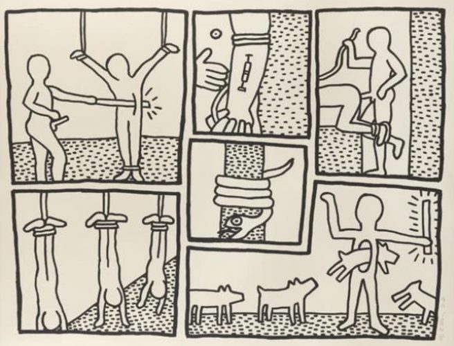 Blueprint Drawing #5 by Keith Haring