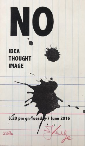 No Idea Thought Image by William Kentridge at