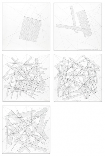 The location of lines (portfolio of 5) by Sol LeWitt