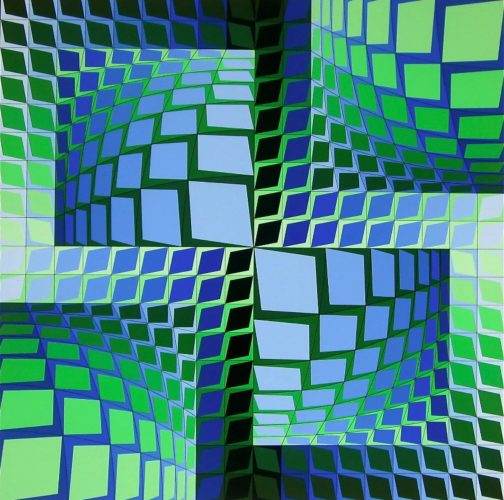Thez by Victor Vasarely at
