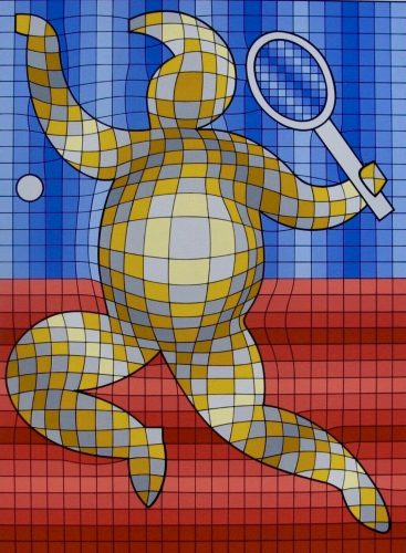 Tennis Player by Victor Vasarely at