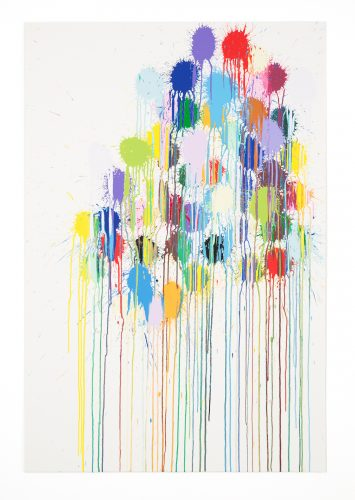 Colour Splat Cluster by Ian Davenport at