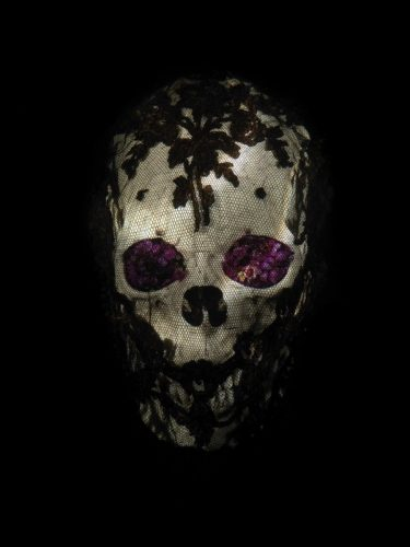 Veiled Skull with Flowers by Alexander James Hamilton at
