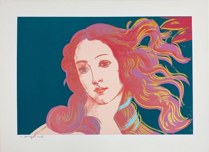 Details of Renaissance Paintings (Sandro Botticelli, Birth of Venus, 1482), II.316 by Andy Warhol at