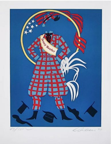 Jenny Reefer (Virgil Thomson, Mother of Us All Suite) by Robert Indiana at Robert Indiana