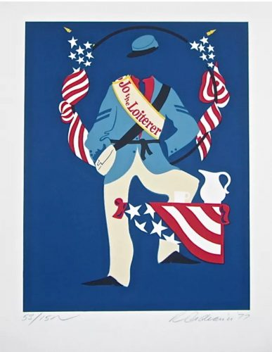 Jo the Loiterer (Virgil Thomson, Mother of Us All Suite) by Robert Indiana at