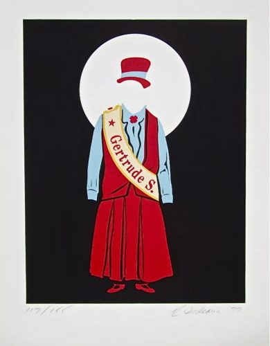 Gertrude Stein (Virgil Thomson, Mother of Us All Suite) by Robert Indiana at Robert Indiana