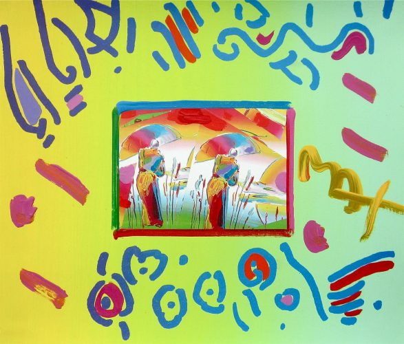 Two Sages by Peter Max