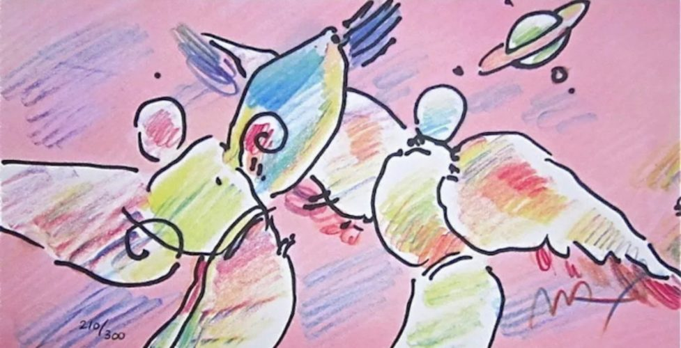 Space Angels by Peter Max at