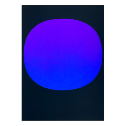 Blue Violet on Black (from Kunstmarkt '68) by Rupprecht Geiger at