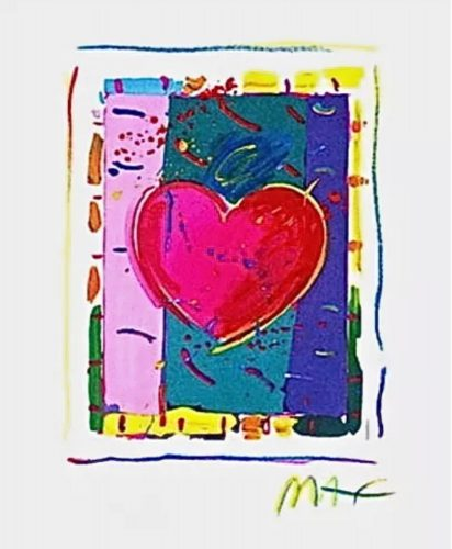 Heart Series IV by Peter Max at