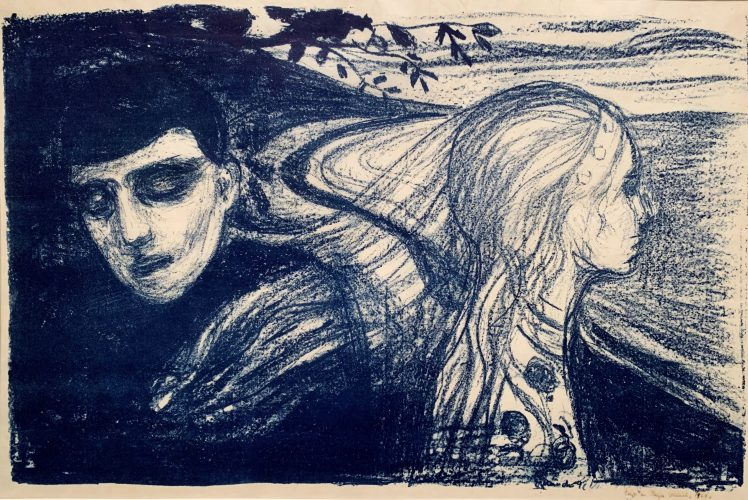 Løsrivelse II / Separation II W78 by Edvard Munch at