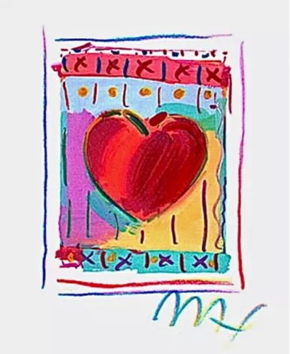 Heart Series II by Peter Max at