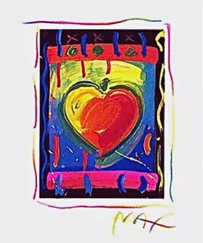 Heart Series V by Peter Max at